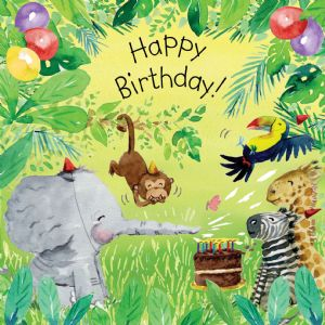 TOT9  Jungle Birthday Card Gender Neutral